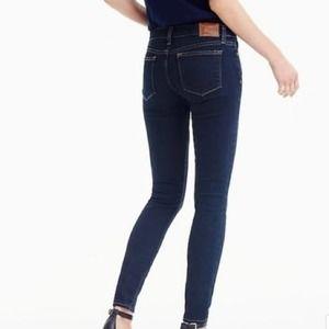 J. CREW Dark Wash Toothpick Skinny Jeans Size 26
